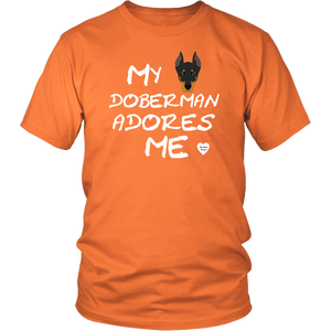 My Doberman Adores Me T-Shirt Neon Orange