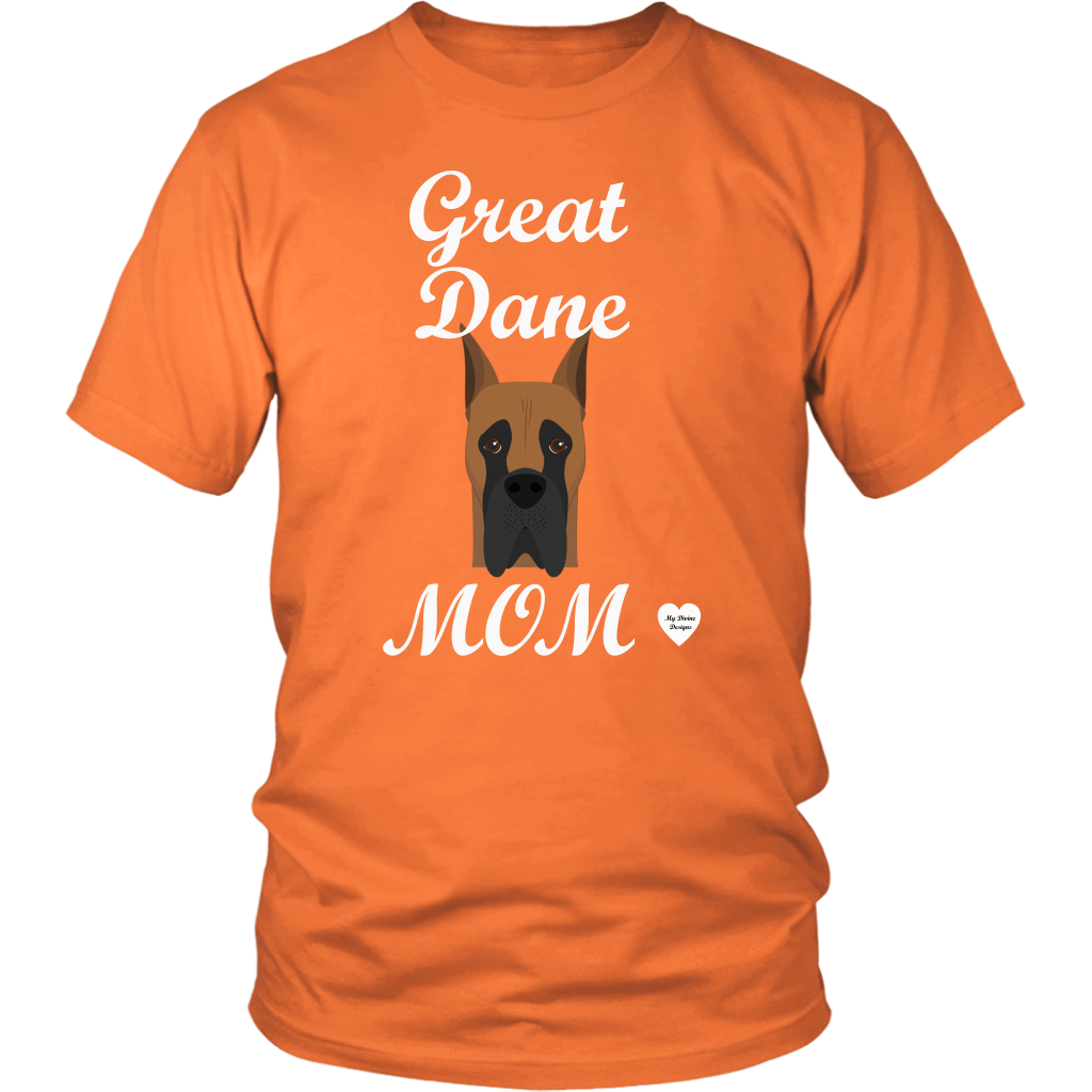 great dane mom orange t-shirt