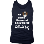 My Saint Bernard Drives Me Crazy Men's Tank Top Navy