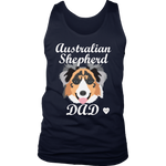 australian shepherd tank top navy