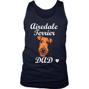 Airedale Terrier Dad Tank Top Navy