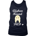 afghan hound dad tank top navy