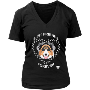 Australian Shepherd Best Friends V Neck
