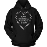 Pug Paw Prints To My Heart Hoodie