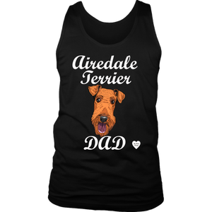 Airedale Terrier Dad Tank Top Black