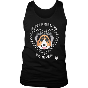 australian shepherd best friends tank top black