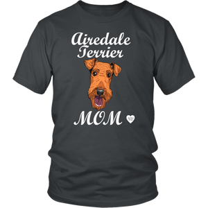 airedale terrier mom t-shirt charcoal