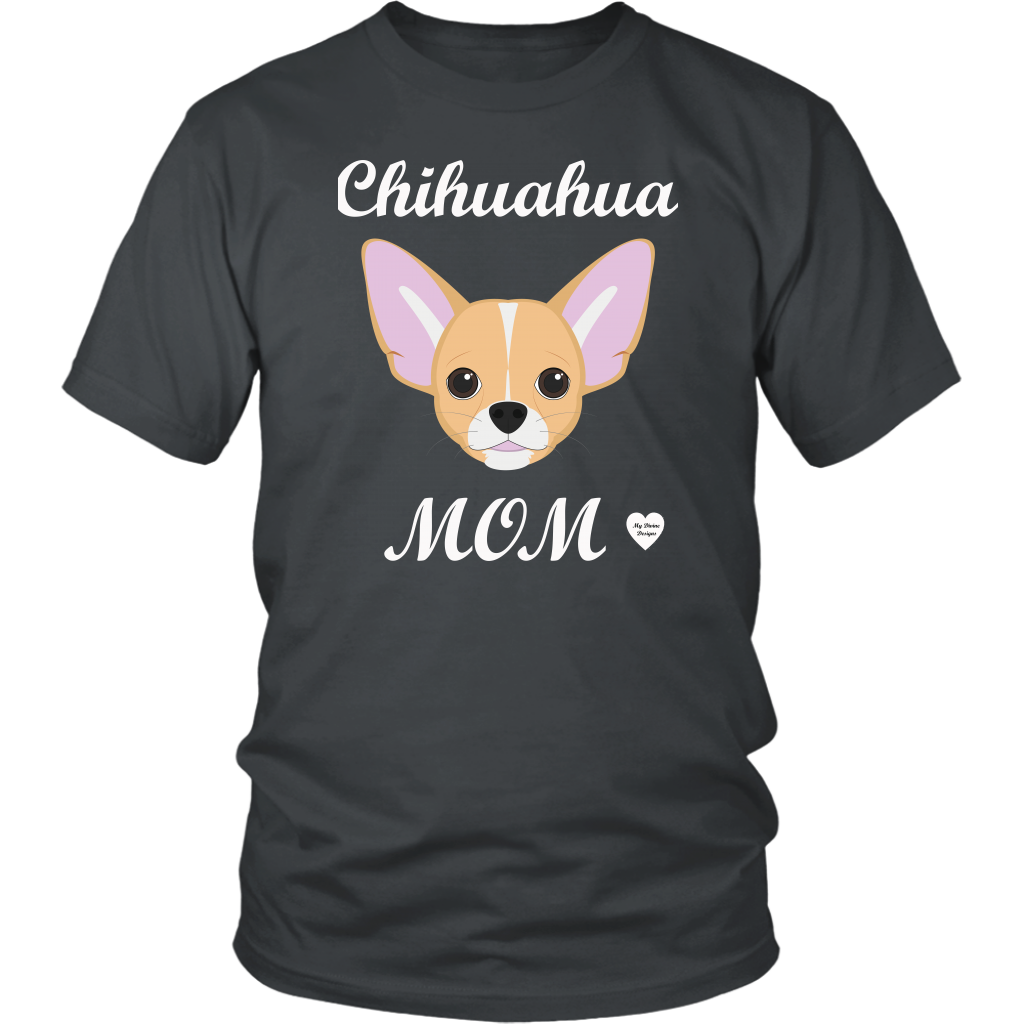 chihuahua mom charcoal t-shirt