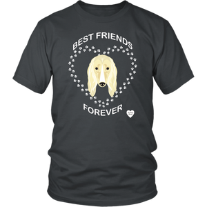 Afghan Hound Best Friends Forever T-Shirt Charcoal
