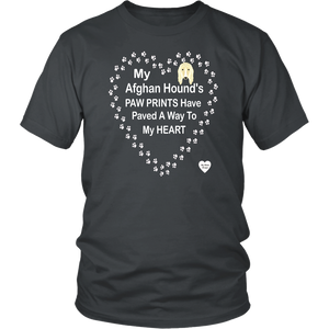 My Afghan Hound's Paw Prints T-Shirt Charcoal