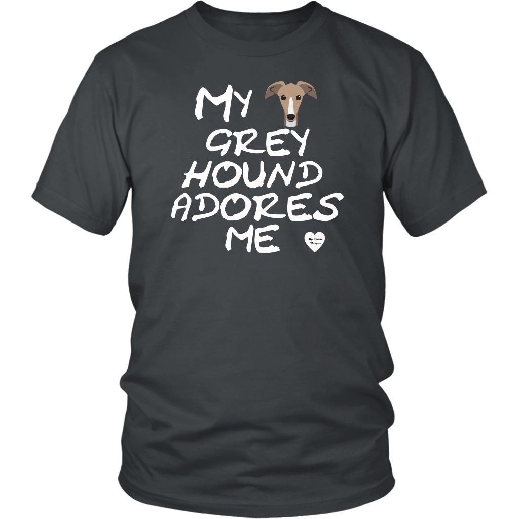 Greyhound Adores Me T-Shirt Charcoal