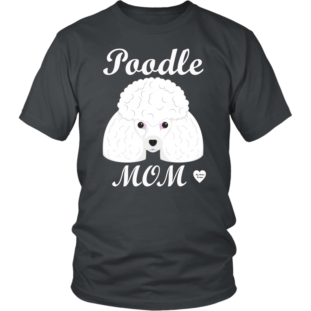 Poodle Mom charcoal t-shirt