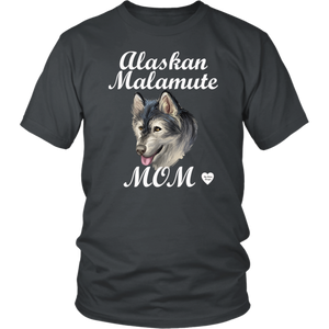 Alaskan Malamute Mom T-Shirt Charcoal