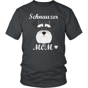 Schnauzer Mom charcoal t-shirt
