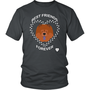 Chow Chow Best Friends Forever T-Shirt Charcoal