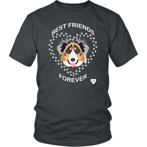 australian shepherd best friends t-shirt charcoal