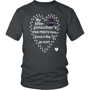 My Affenpinscher Paw Prints T-Shirt Charcoal