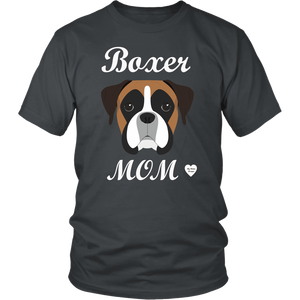 boxer mom charcoal t-shirt