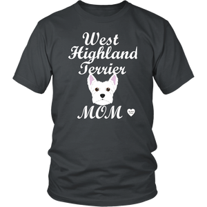 west highland terrier t-shirt charcoal
