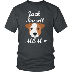 jack russell mom t-shirt charcoal