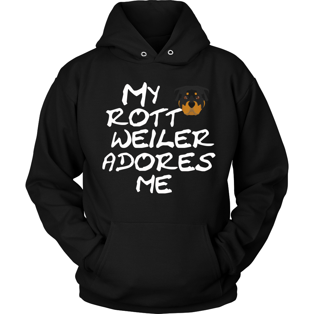 Rottweiler Adores Me Hoodie