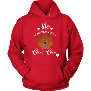 Life Is Better With A Chow Chow Hoodie Red