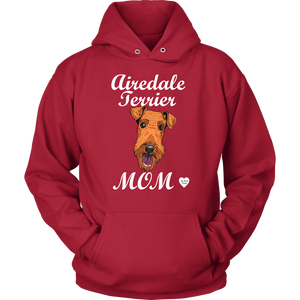 airedale terrier mom hoodie red