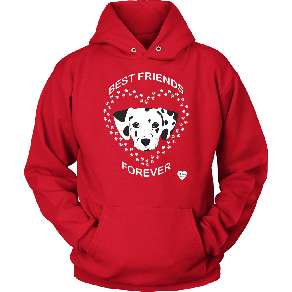 Dalmatian Best Friends Forever Hoodie Red
