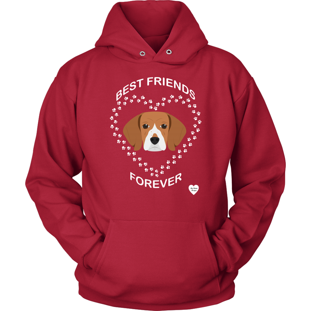 Beagle Best Friends Forever Hoodie Red