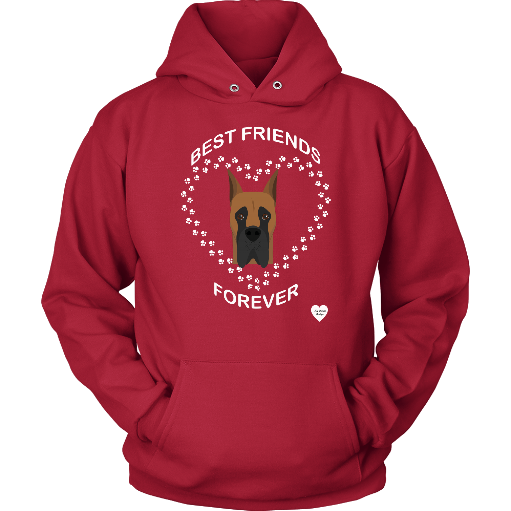 Great Dane Best Friends Forever Hoodie