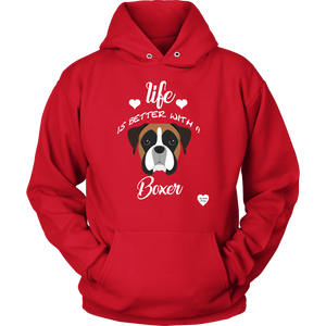 Life Is Better With A Boxer Hoodie Red