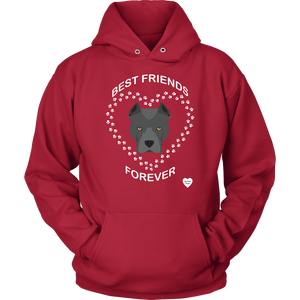 Pit Bull Best Friends Forever Hoodie Red