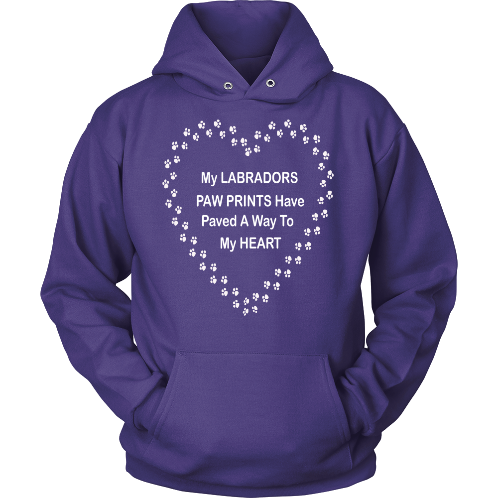 Labrador Paw Prints To My Heart Hoodie