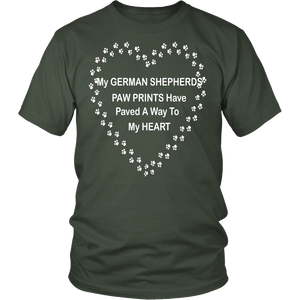 German Shepherd Paw Prints to My Heart T-Shirt