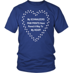 Schnauzers Paw Prints to My Heart T-Shirt