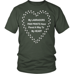 Labrador Paw Prints to My Heart T-Shirt