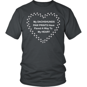 Dachshunds Paw Prints to Heart T-Shirt