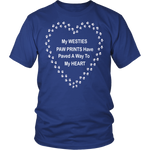 West Highland Terrier Paw Prints to My Heart T-Shirt