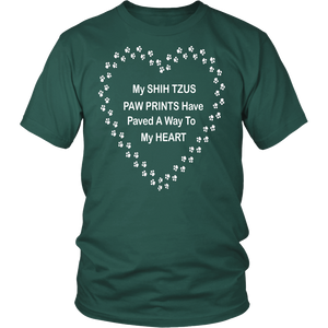 Shih Tzu Paw Prints to My Heart T-Shirt