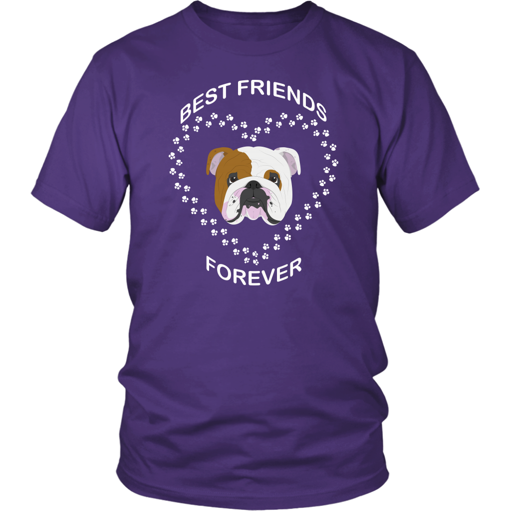 English Bulldog Best Friends Forever T-Shirt