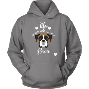 Life Is Better With A Boxer Hoodie Grey