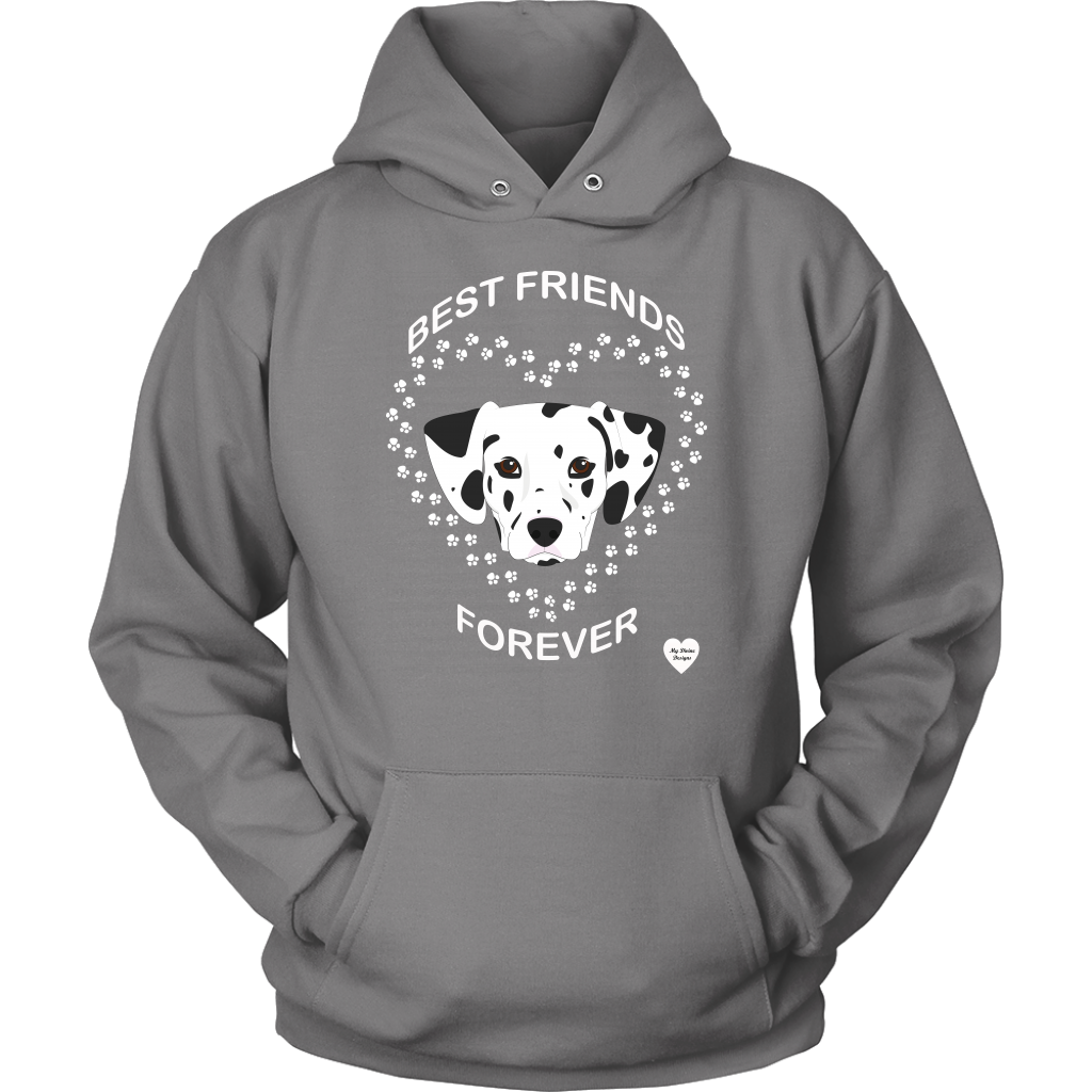 Dalmatian Best Friends Forever Hoodie Grey