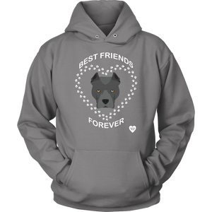 Pit Bull Best Friends Forever Hoodie Grey