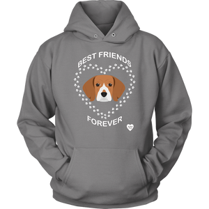 Beagle Best Friends Forever Hoodie Grey