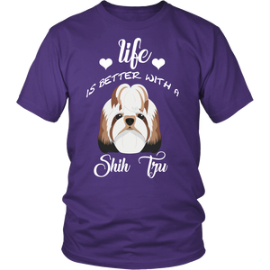 Life Is Better With A Shih Tzu T-Shirt