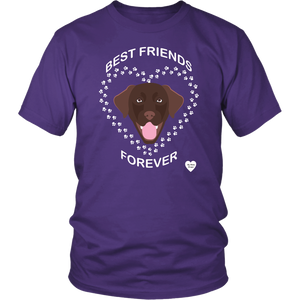 Chocolate Lab Best Friends Forever T-Shirt Purple