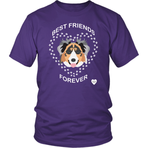 australian shepherd best friends t-shirt purple