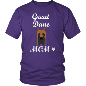 great dane mom purple t-shirt