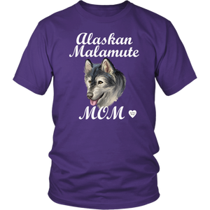 Alaskan Malamute Mom T-Shirt Purple