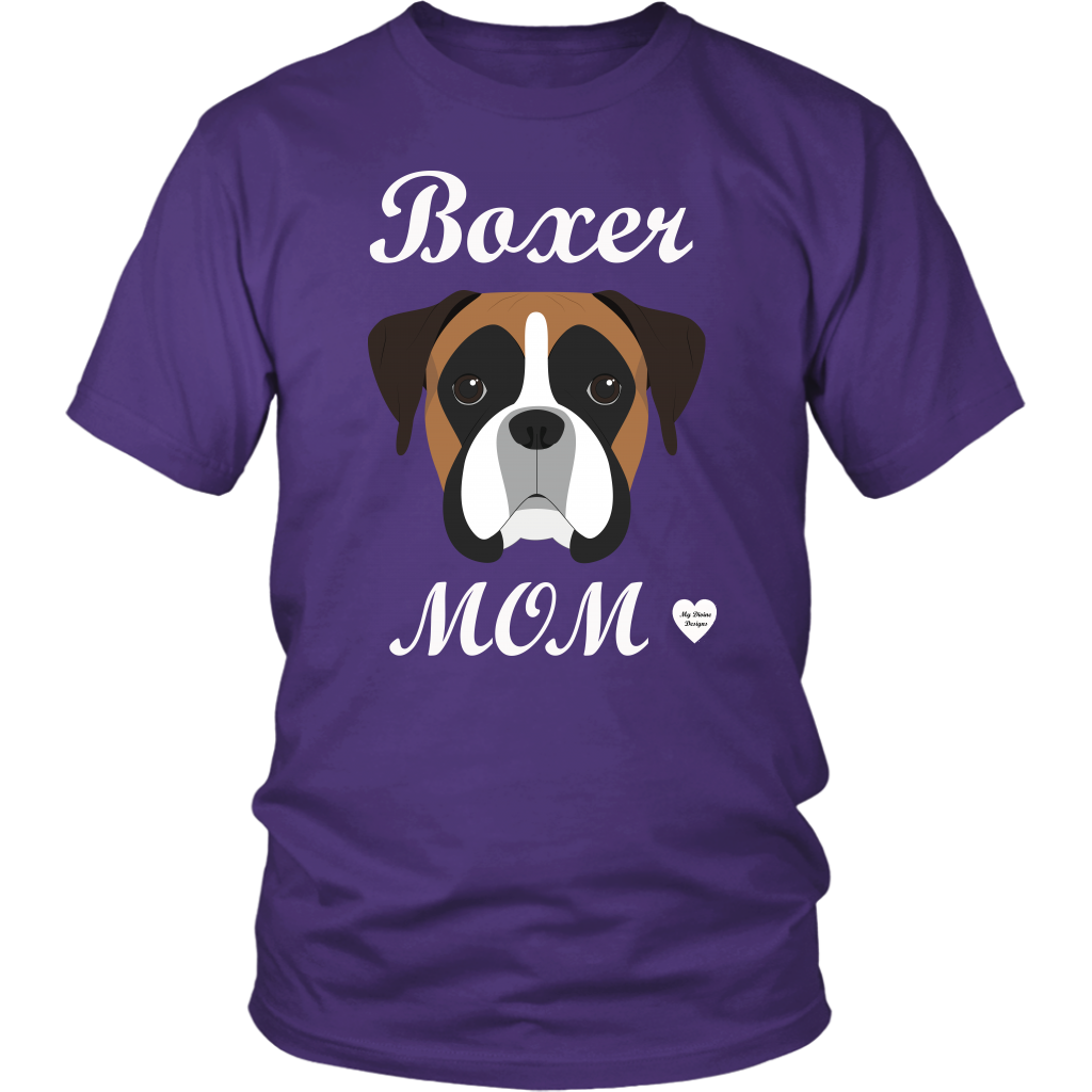 boxer mom purple t-shirt